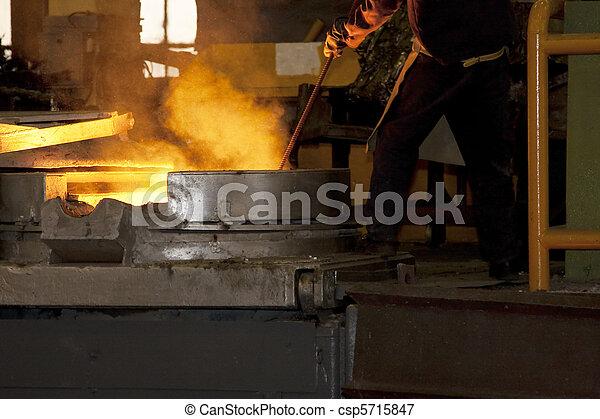 image de fondre fournaise ouvrier worker et fournaise csp5715847 recherchez des. Black Bedroom Furniture Sets. Home Design Ideas