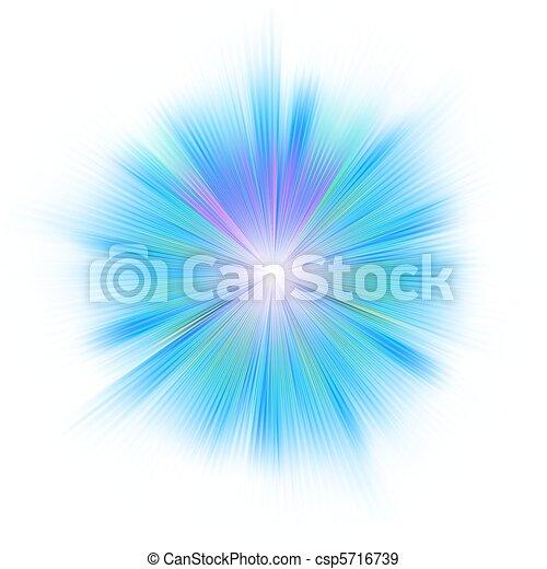 Bright blue star. EPS 8 - csp5716739