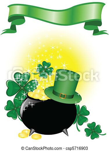pot of gold and a hat - csp5716903