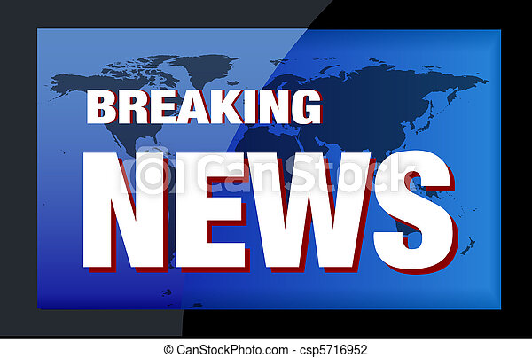 BREAKING NEWS TV - csp5716952