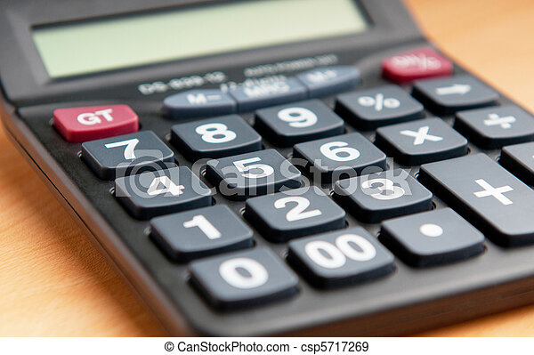 Business concept with accounting calculator  - csp5717269