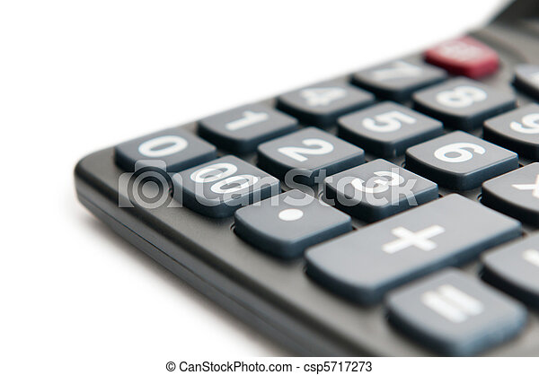 Business concept with accounting calculator  - csp5717273
