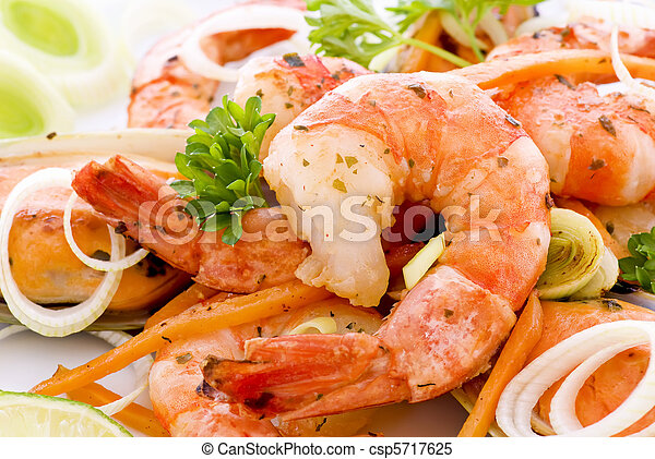 Shrimps and Mussels - csp5717625