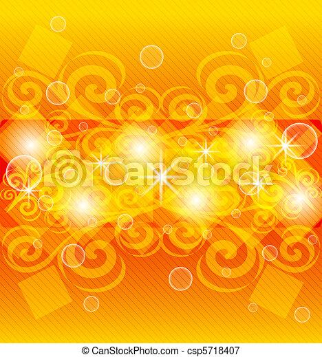 abstract orange background - csp5718407