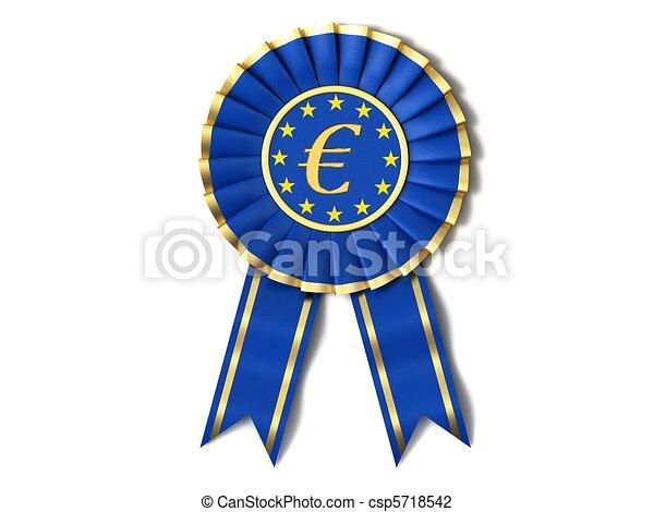 Ribbon award is the European Union. - csp5718542