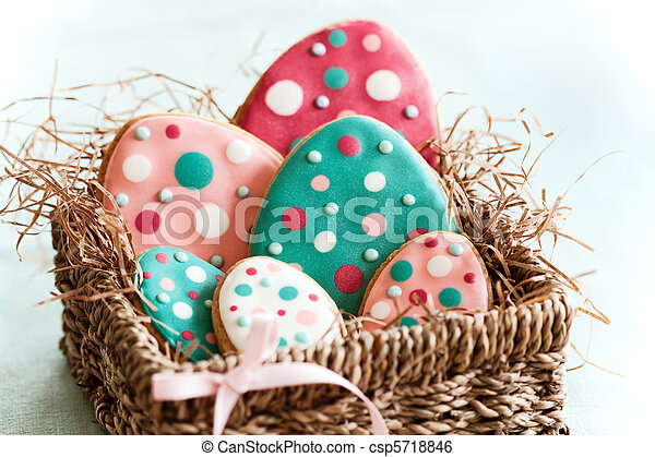 Easter egg cookies - csp5718846