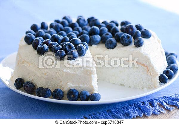 alimento, bolo, anjo - csp5718847
