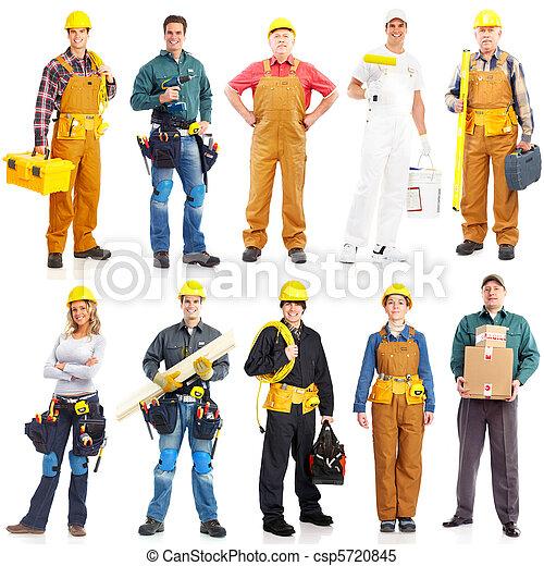 Ouvriers, entrepreneurs, gens - csp5720845
