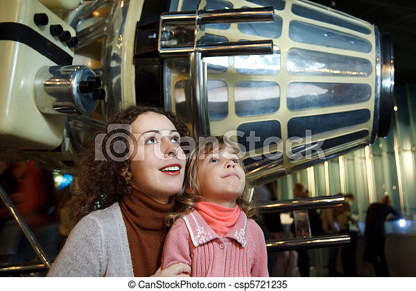 MOSCOW, RUSSIA - NOVEMBER 8: In an astronautics museum in the game form acquaint children with history. November 8, 2009 in Moscow, Russia. - csp5721235