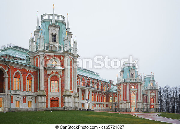 State historical and architectural museum-reserve Tsaritsyno in Moscow, Russia. - csp5721827