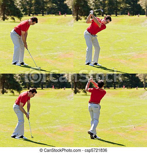 Golfer swing sequence - csp5721836