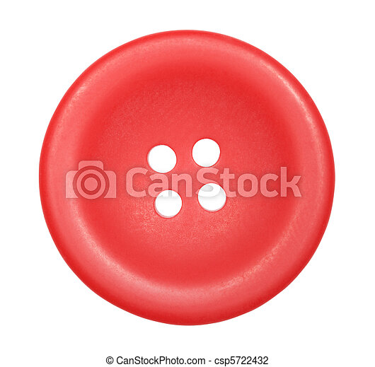 red button for clothes isolated on white background, top view - csp5722432