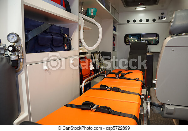 Equipment for ambulances. View from inside. - csp5722899