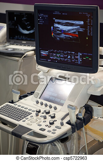 Medical Equipment ultrasound scanning. Diagnosis of pregnancy. - csp5722963