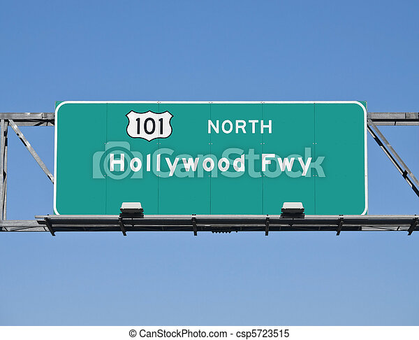 Hollywood Freeway Sign - csp5723515