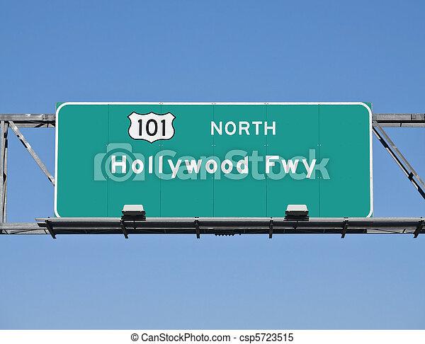 Hollywood Freeway Sign - csp5723515