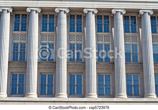 Columns and Windows, Federal Building Washington DC - csp5723979