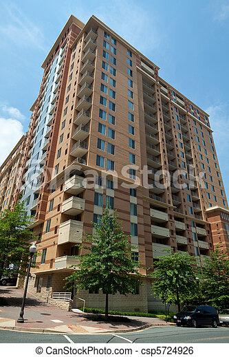 Modern Condo Apartment Building Tower Skyscraper Rosslyn - csp5724926