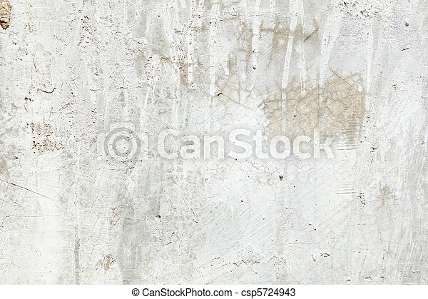 Full Frame Grungy Dirty Painted Cement Wall with Dripping Paint - csp5724943