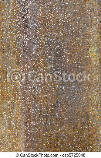 Full Frame Corroded Brushed Brass Metal Pole Paint Flecks - csp5725048