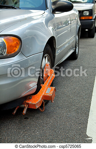 Car Boot on Tire, Failed to Pay Parking Ticket - csp5725065