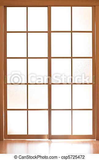 Sliding glass door in japan style - csp5725472