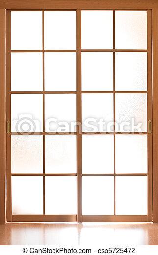 Sliding glass door in japan style - csp5725472