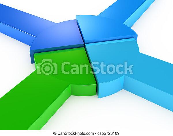 Equal Partnership pie chart - csp5726109