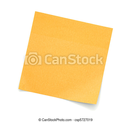 Blank Orange Post-It Note - Royalty Free Stock Photo ...