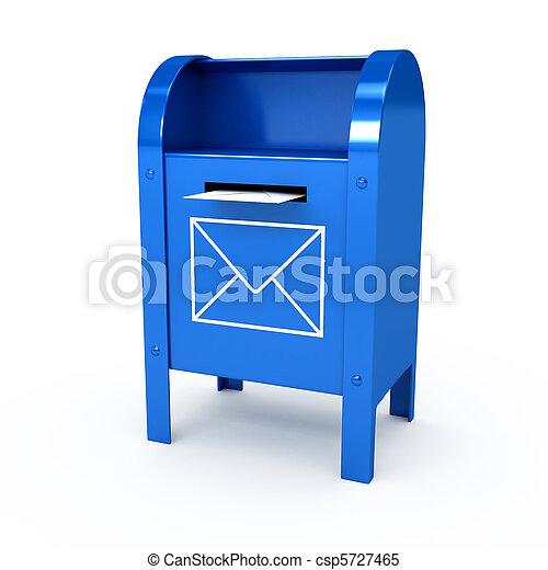 色, 上に, 金属, 背中, メールボックス, 白 - csp5727465
