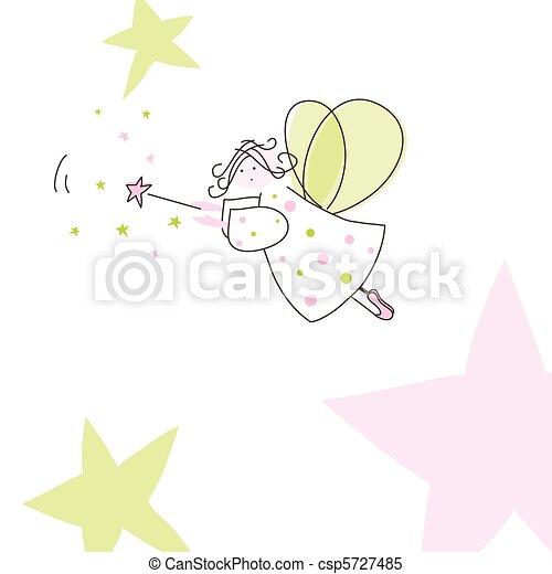 Cute card with fairly - csp5727485