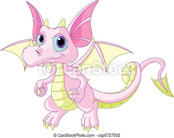 Illustration vecteur de dessin anim b b dragon illustration mignon dessin csp5727502 - Dessin de bebe dragon ...