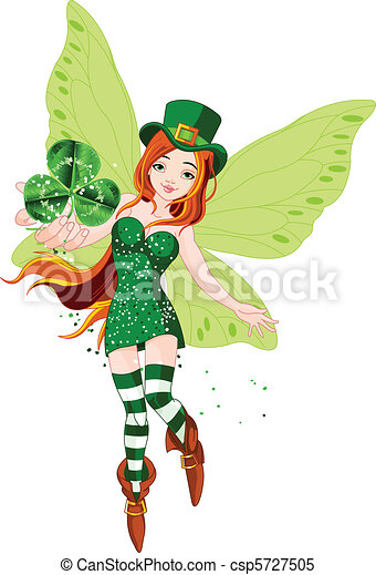 St. Patricks Day Fairy - csp5727505