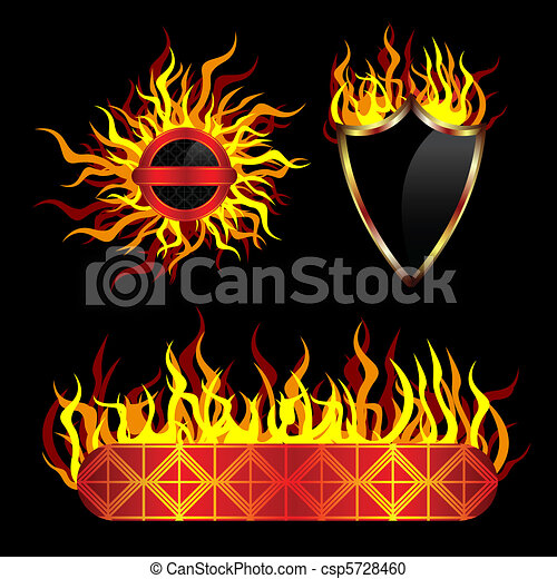 Fiery vector templates - csp5728460