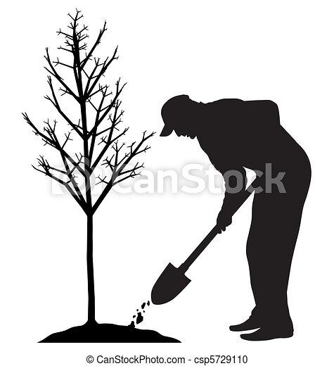 Planting a tree - csp5729110