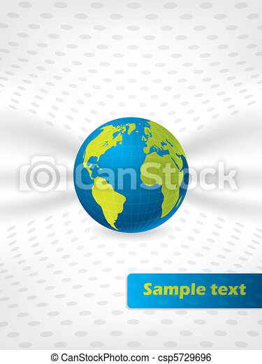 Abstract globe brochure design - csp5729696