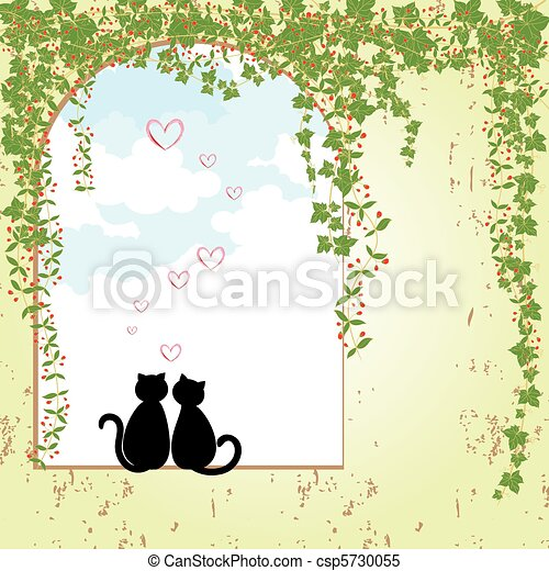 Springtime cat dating - csp5730055