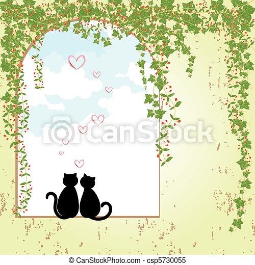 Springtime cat dating - csp5730055