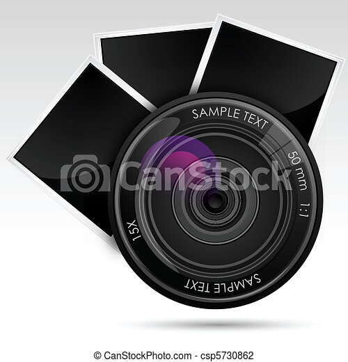 camera Lens with Photograph - csp5730862