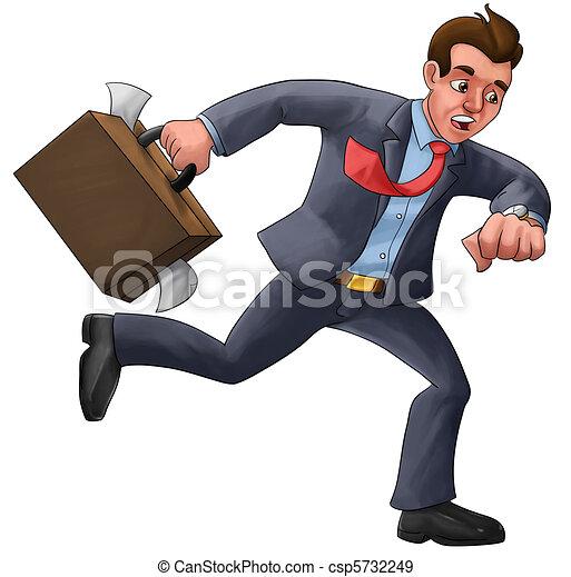 executive in a hurry - csp5732249