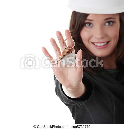 Real estate agent - csp5732779