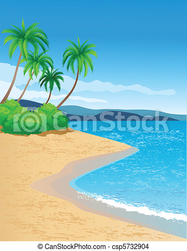 tropical beach - csp5732904