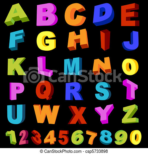 letters and digits - csp5733898
