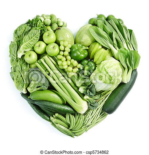 saudável, alimento, verde - csp5734862