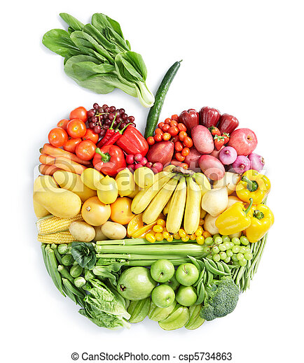 hälsosam, mat,  apple: - csp5734863