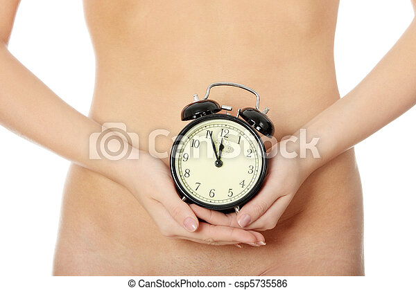 Clock on belly - csp5735586