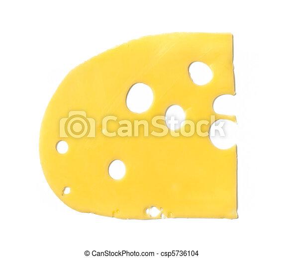 Maasdam cheese slice isolated - csp5736104