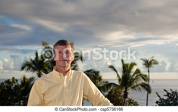 Retired man on vacation