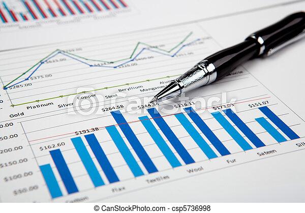 financial charts and graphs - csp5736998