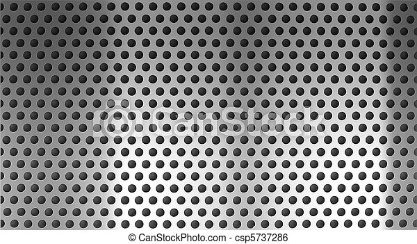 metal holed or perforated grid background - csp5737286